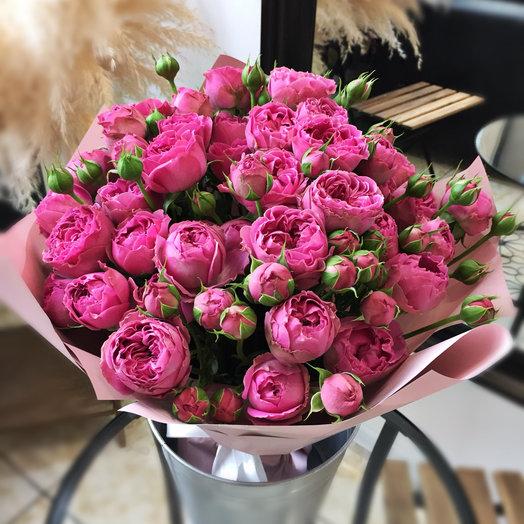 15 кустовых роз Мисти Баблс: букеты цветов на заказ Flowwow