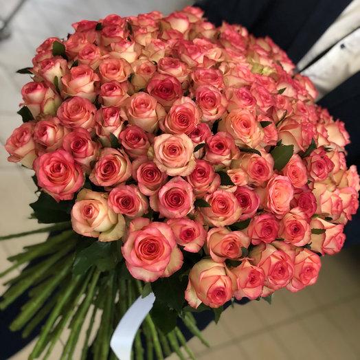 """Букет с 101 розы """"Цветочный рай"""""""