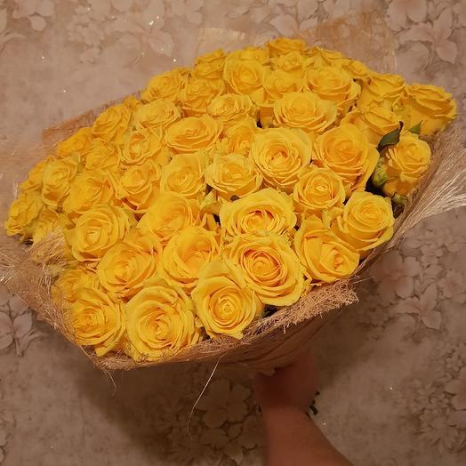 Букет из роз. 51 желтая роза: букеты цветов на заказ Flowwow