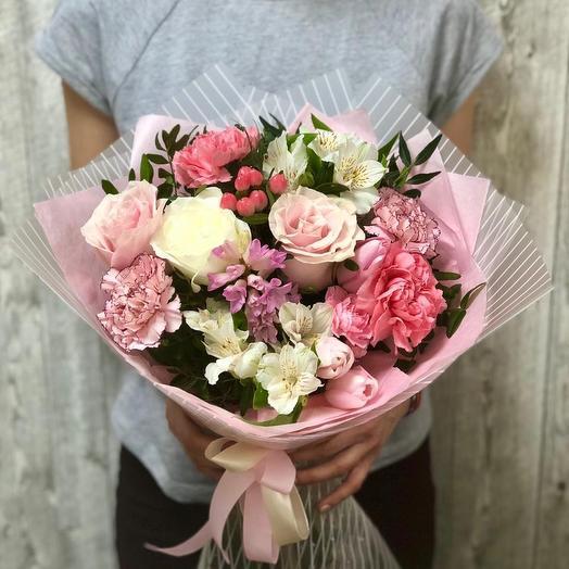 Цветы девушке - сборный букет: букеты цветов на заказ Flowwow