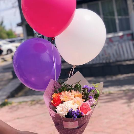 """Комплект """"Букет и Шары"""": букеты цветов на заказ Flowwow"""