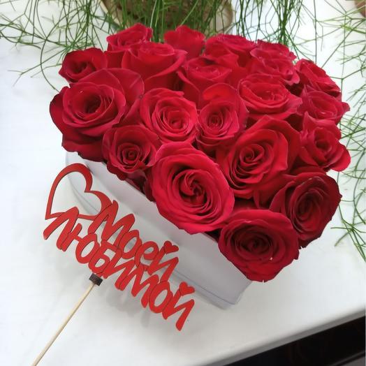 Лав Box: букеты цветов на заказ Flowwow