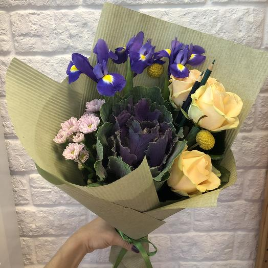 Стильный ученик: букеты цветов на заказ Flowwow