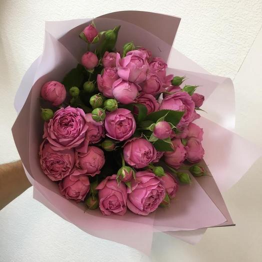 11 пионовидных роз: букеты цветов на заказ Flowwow