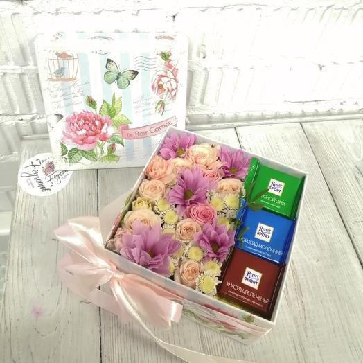Коробочка доброты: букеты цветов на заказ Flowwow