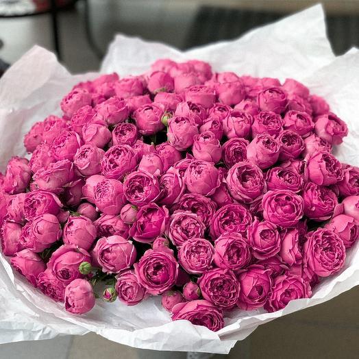 Большой букет пионовидных роз: букеты цветов на заказ Flowwow