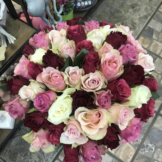 Букет из роз (51): букеты цветов на заказ Flowwow