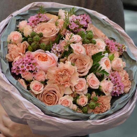 """Букет цветов """"Пудра"""": букеты цветов на заказ Flowwow"""