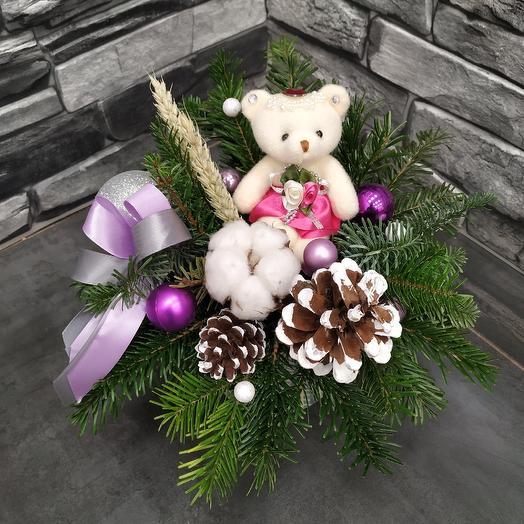 """Зимняя композиция """"Рождественское чудо"""": букеты цветов на заказ Flowwow"""