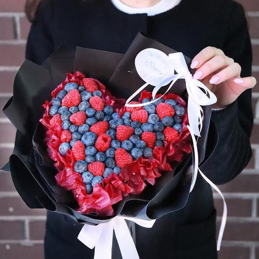 Ягодное сердце: букеты цветов на заказ Flowwow