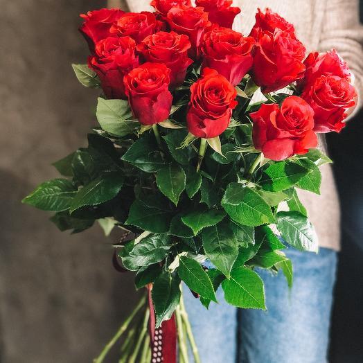 Классический букет из розы 70см