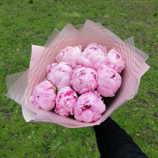 Голландские пионы 9: букеты цветов на заказ Flowwow
