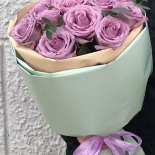 Букет из 9 лавандовых роз