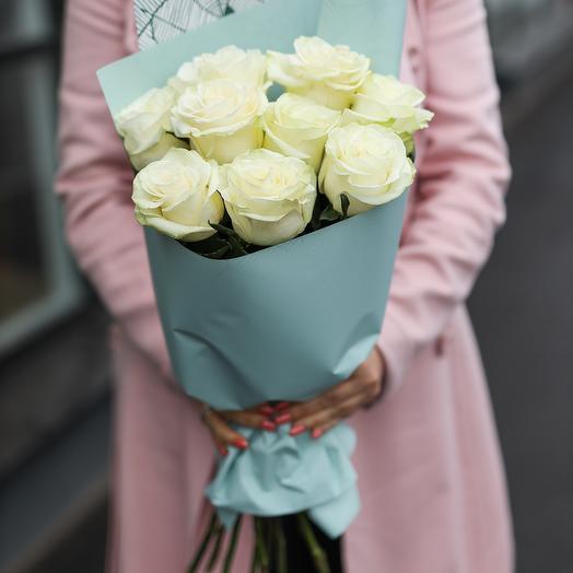 Букет из белых роз Эквадор