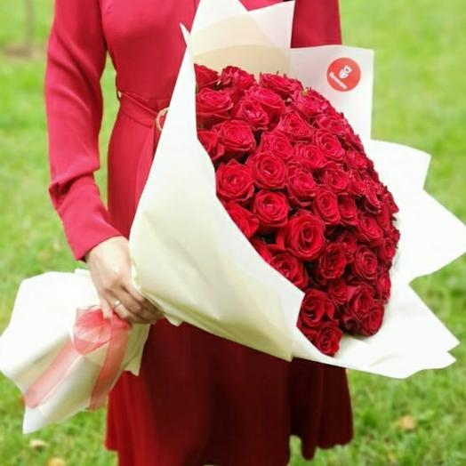 51 красных роз