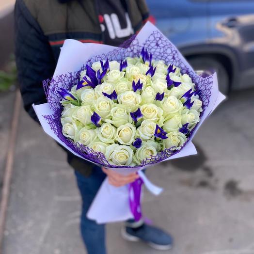 Букет «Розы с Ирисами»