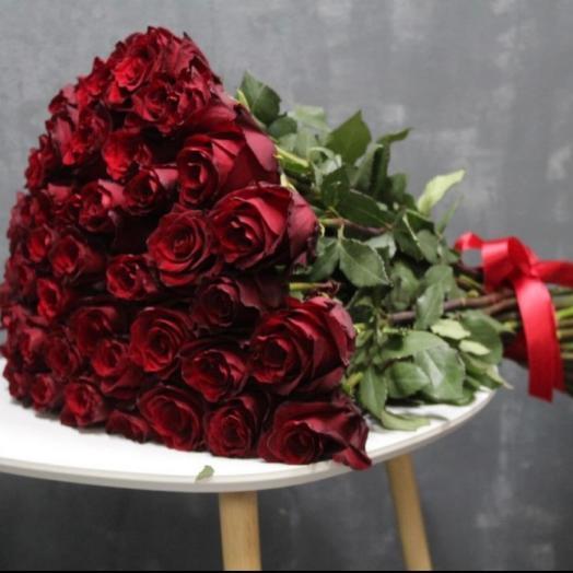 Букет из 51 розы - Эквадор 100см