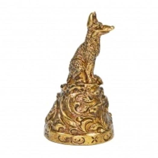 Колокольчик из бронзы Лисица 5 см