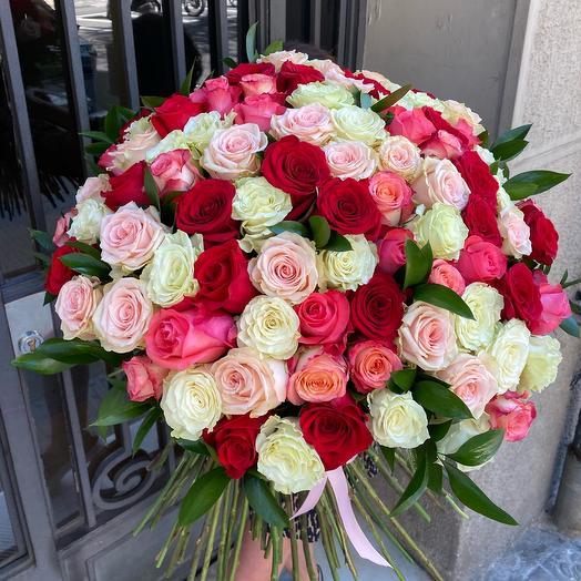 Розы mix