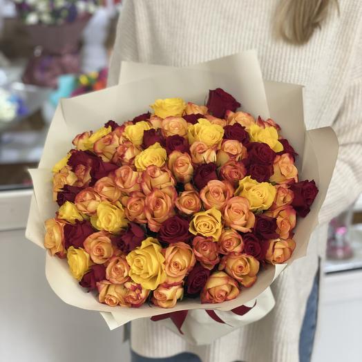 Монобукет из 45 кенийских роз