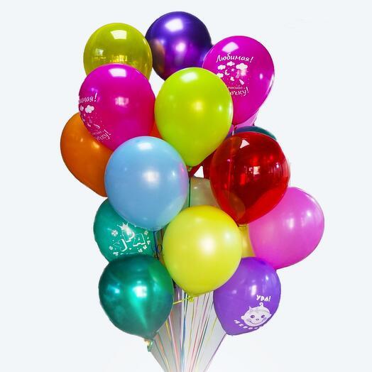 Набор из 25 разноцветных шариков