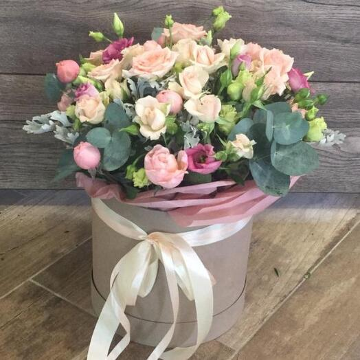 Цветы коробке