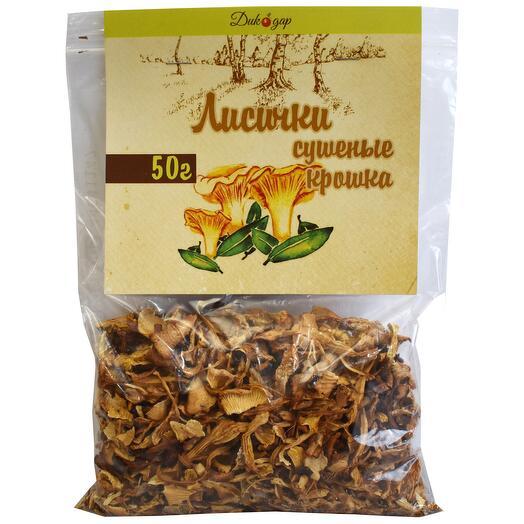 Сушеные лисички грибы (крошка) 50 гр