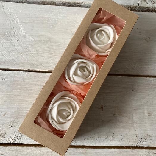 Цветы конфеты в коробке