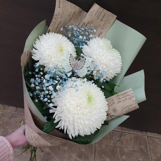 Кулечек хризантем