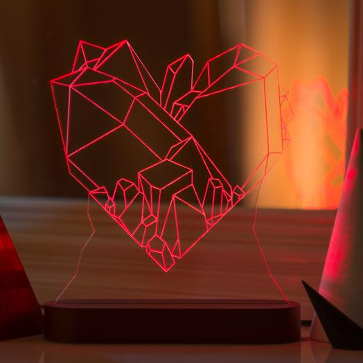 Лампа-ночник Сердце