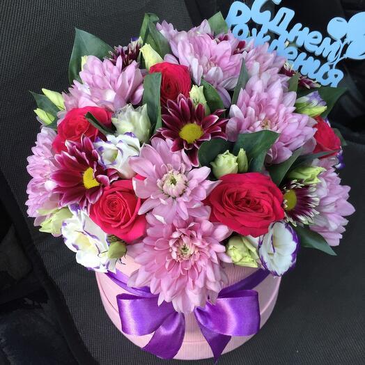 Цветы в коробке 9467