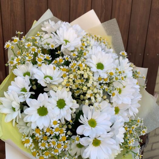 """Bouquet of daisies and chrysanthemums """" Summer field»"""