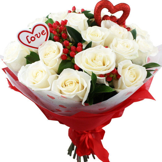 Букет Влюблен в тебя: букеты цветов на заказ Flowwow