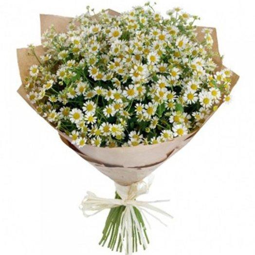 Букет ромашек в карфте: букеты цветов на заказ Flowwow