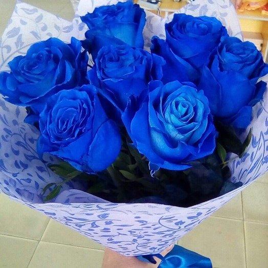 "Букет ""Синих роз"": букеты цветов на заказ Flowwow"