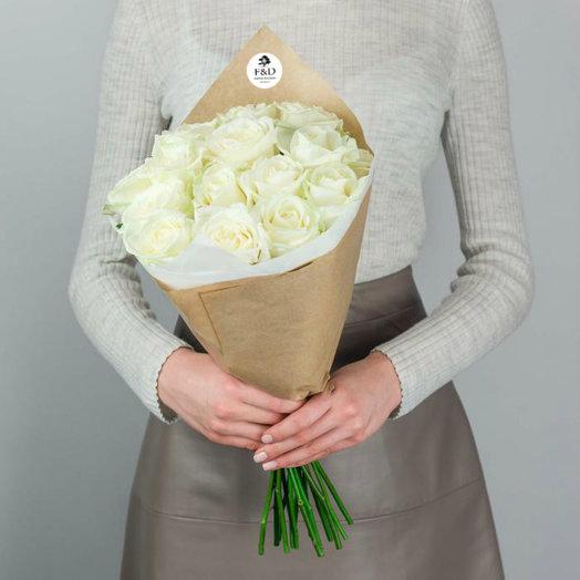 """Розы """"Аваланж"""" 19 шт.: букеты цветов на заказ Flowwow"""