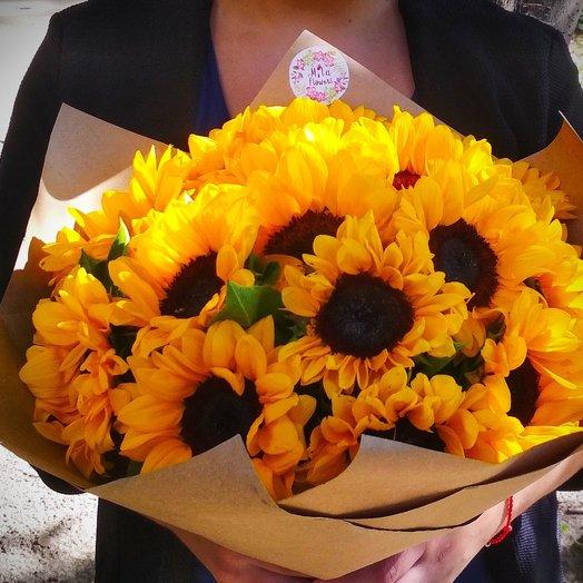 15 подсолнухов: букеты цветов на заказ Flowwow