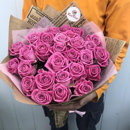 Букет из 29 роз аква 🍭: букеты цветов на заказ Flowwow