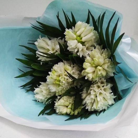 7 гиацинтов в упаковке: букеты цветов на заказ Flowwow