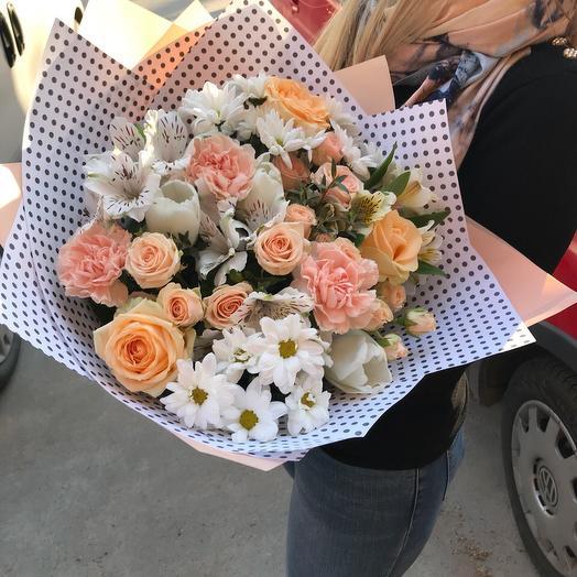 Стильный горошек: букеты цветов на заказ Flowwow