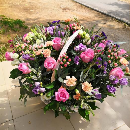 Корзина премиум: букеты цветов на заказ Flowwow