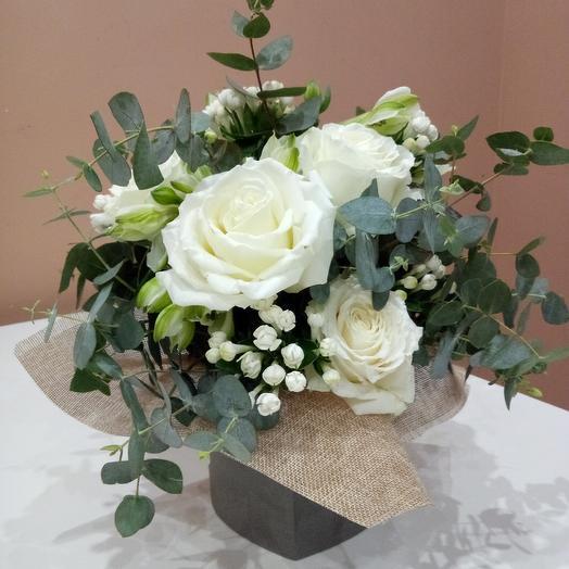 Белая фантазия: букеты цветов на заказ Flowwow