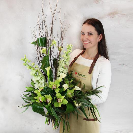 Букет из орхидей и калл - Эльфийская баллада