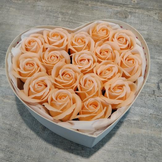 Сердце из мыла: букеты цветов на заказ Flowwow
