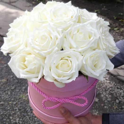 Коробочка, 17 роз: букеты цветов на заказ Flowwow