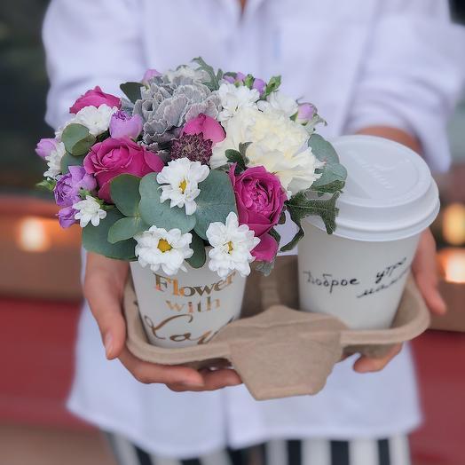 Кофе и Цветы: букеты цветов на заказ Flowwow