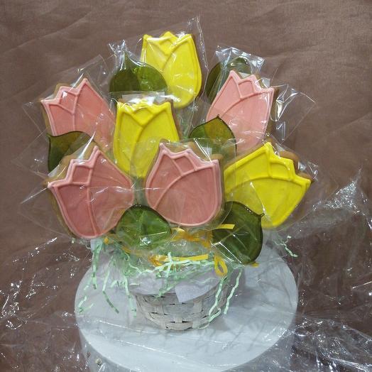 Пряничная корзинка: букеты цветов на заказ Flowwow