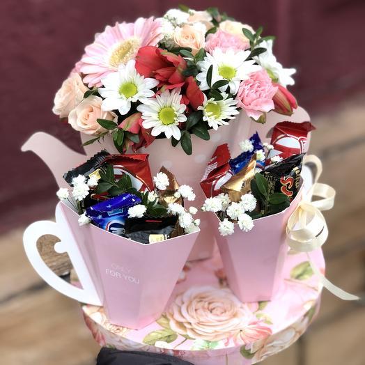 Приятного чаепития: букеты цветов на заказ Flowwow