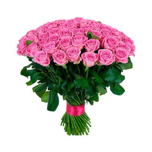 101 розовая роза (50 см)