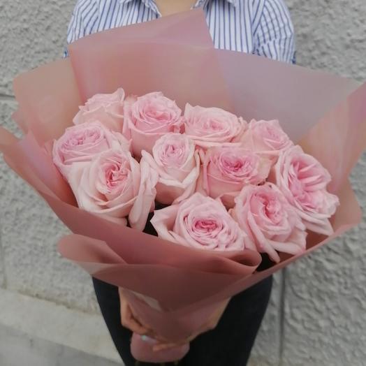 Букет из пионовидных роз пинк охара